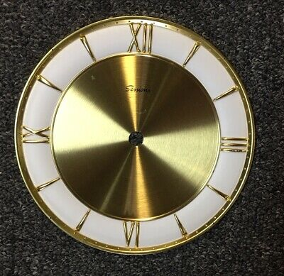Vintage Sessions 6 inch Brass Clock Face Made In Germany New Old Stock