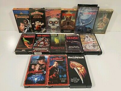 Lot of 14 Horror / Cult Vhs Video The Crazies Mausoleum The Outing aka The Lamp