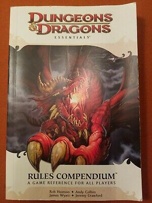 Dungeons & Dragons Essentials D&D Rules Compendium Game Reference Book 4e 4th ed