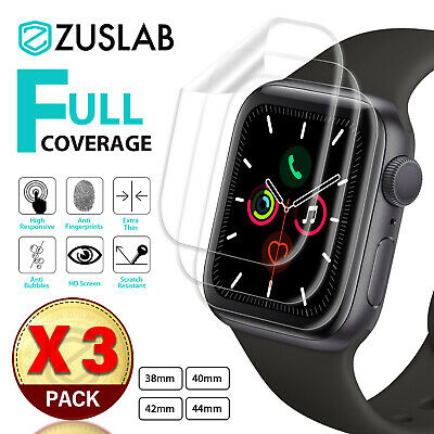 Apple Watch iWatch 1 2 3 4 5 38/40/42/44mm ZUSLAB Full Cover Screen Protector X3