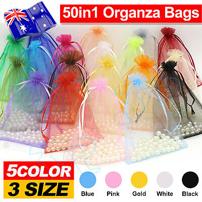 Wedding Gift Organza Bags Party Favour Jewellery Pouch Candy Packaging Sheer Bag