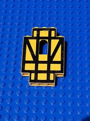 LEGO 1x Yellow /& Black Stripes Castle Wall Panels 2x5x6 4444p03 6074 6086 10039