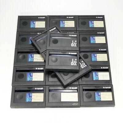 20 x BASF Maxima 60 Minutes DCC Cassette Tape Used w/ Case And Inlay / J-Card