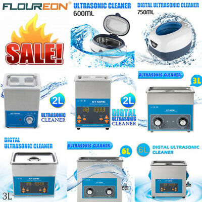 UK STOCK! Stainless Ultrasonic Cleaner Timer Ultra Sonic Bath Cleaning with Tank