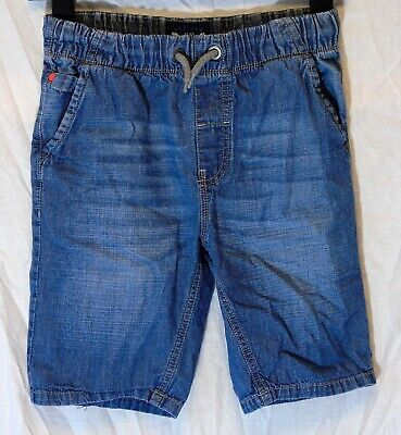 Boys Next Blue Whiskered Soft Denim Drawstring Waist Board Shorts Age 11 Years
