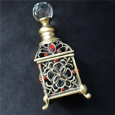 Crystal Metal Empty Perfume Bottle Ancient Arab Antique Bottle Lady Party Gift