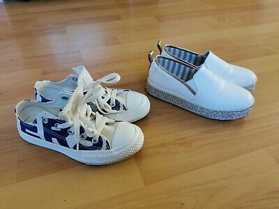 Girls River Island Converse Trainers Slip On Shoes bundle Size Uk12