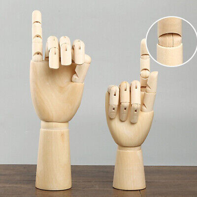 Big & Small 2pcs Wooden Mannequin Right Hand Jointed Hand Human Artist Model