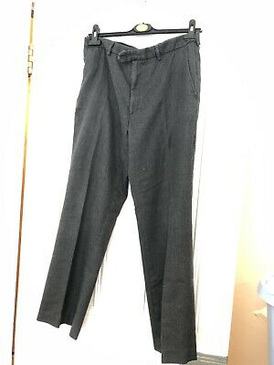 David Luke Black / Dark Grey Boys School Uniform Work Trousers, Size 80/32