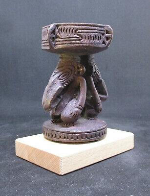 Old Miniature Carved SEPIK Mortar - PAPUA NEW GUINEA - early 1900