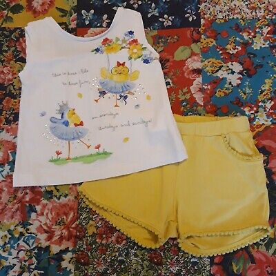 Mayoral 18M Girls Spanish Designer Summer Outfit Top & Shorts Holiday