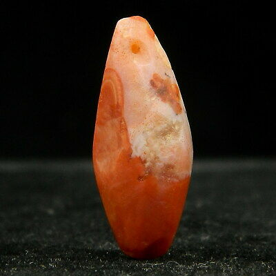 KYRA MINT - Ancient AGATE Bead PENDANT - 22.6 mm long - Neolithic AGE - Sahara