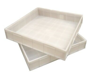 Square Plastic Stacking Food Grade Pizza Dough Bakery Trays -Commercial Quality!