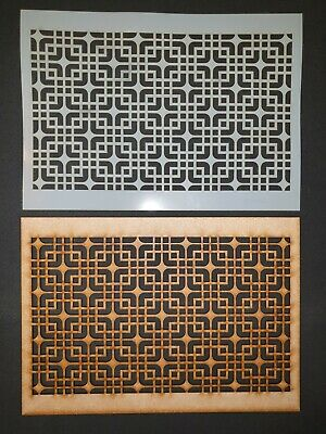 Decorative Panel Pattern Screening Grille MDF Stencil Embellishment #8