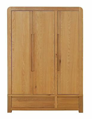 Home Novara 3 Door Wardrobe - Oak & Oak Veneer