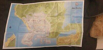 GTA 5 / Grand Theft Auto V Double Sided Poster / Map