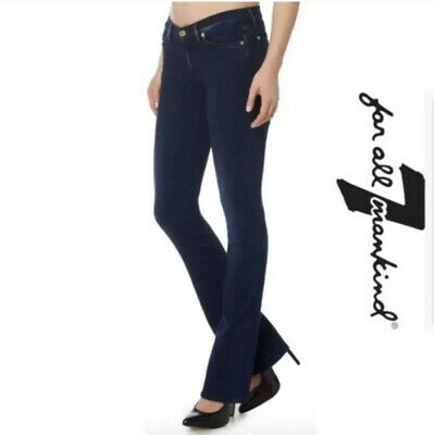 7 Seven For All Mankind Women's The SKINNY BOOTCUT Jeans Dark Wash Size 28