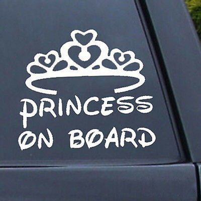 Static Cling Window Car Sign//Decal Daddy/'s Princess Curlycues