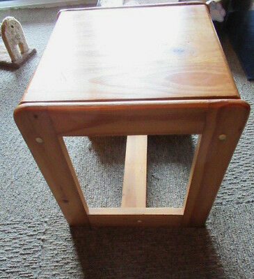 Perrings Pine Stool Also  Suitable For A Side Table Flat Pack Design