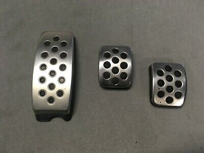 Vauxhall Corsa Mk3 D And Mk4 E Sri Vxr Limited Silver Foot Pedal Covers