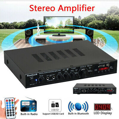 2000W 110V HiFi Power Amplifier Stereo Surround USB For Karaoke Theater Cinema