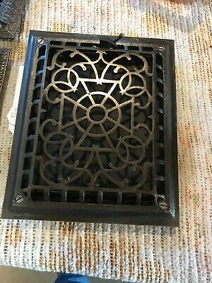 Tk6 Antique cast-iron wall mount heating grate 9.5 x 11.5