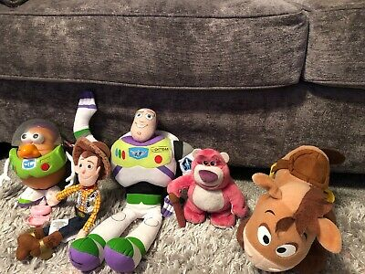 Toy Story Bundle 2009 Mr Potatoe Head Woody Buzz Bullseye & Lotso Soft Toys ❤️