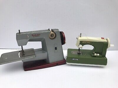 Vintage Vulcan Childs Sewing Machine And One Other.