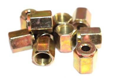 "Female Brake Pipe Nuts Qty 50 Pack Metric M10 10mm Nut For 3//16/"" Copper BPN13"
