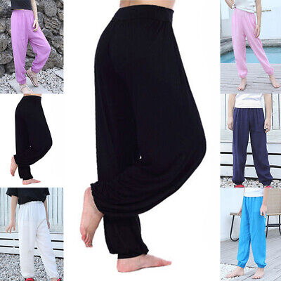 Kids Boys Girl Boho Hippie Bloomers Trousers Baggy Loose Fitted Sport Yoga Pants