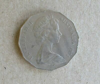 """1974 50 cent 50c coin /"""" COAT of ARMS STANDARD Design  /""""  COIN"""