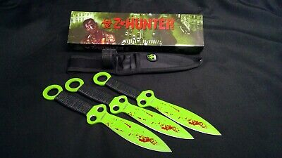 Z-Hunter Zombie Throwing Knife Set with Three Knives Cord Wrapped Handle