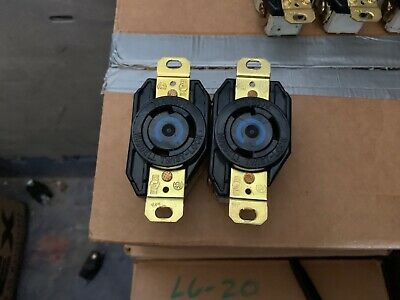 Lot of 2 Hubbell HBL2620 Receptacle 250 Volt 30 Amp 2P 3W Twist Lock