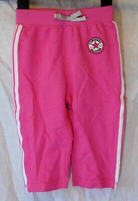 Baby Girls Converse Pink White Comfy Joggers Casual Trousers Age 12-18 Months