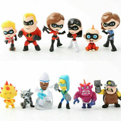 12Pcs The Incredibles 2 Collection Set Action Figurines Cake Topper Decor Toy