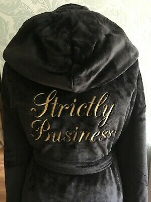 Luxury Mens Personalised Hooded Dressing Gown