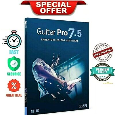 🔥GUITAR PRO 7.5 Pro🔥Full Version🔑Lifetime 🔥Windows 7 8 10