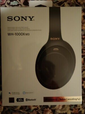 BRAND NEW SEALED black Sony WH-1000XM3 Wireless Noise Canceling Headphones