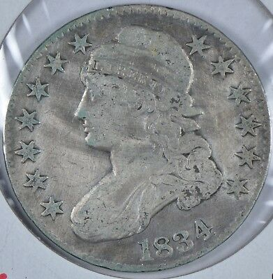 1834 Capped Bust Half Dollar Large Date Large Letters #185302