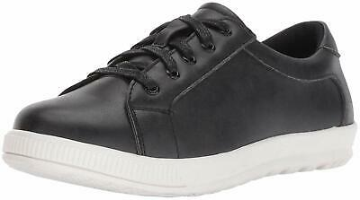 Kids Deer Stags Girls Kane Low Top Lace Up Walking Shoes, Black/White, Size 4.0