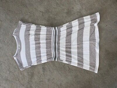 abercrombie kids Girls Grey and white striped t shirt Dress - Size 13/14 Years