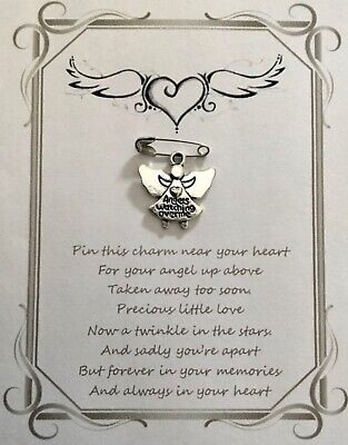 Miscarriage Loving Memory Remembrance Memorial Wish Pin Card Gift Keepsake