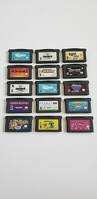 Huge Lot Of 15 Gba Gameboy Advance Games He-Man Plus More Kids Games Authentic