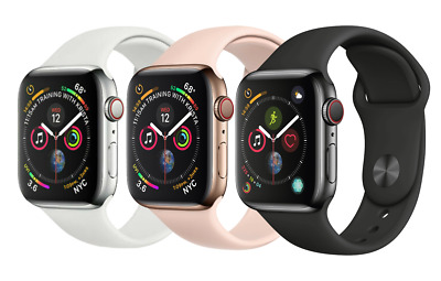 Apple Watch Series 4 |40mm 44mm | GPS + Cellular 4G LTE Stainless Steel Colors