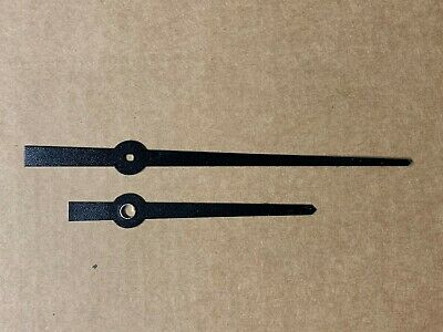 """Black Lanshire Clock Hands, 5-1/4"""" minute hand, sold as a pair"""
