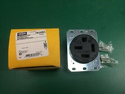 HUBBELL HBL8450A Receptacle, NEMA 15-50R, 50A 3 Phase, 250V, 3P, with ground