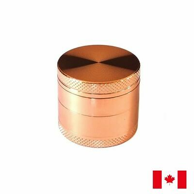 Rose Gold Zinc Alloy 4 Layer 40mm Spice Herb Grinder w/ Scraper