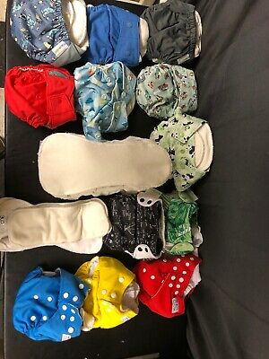 Cloth Diapers GroVia bum genius easy care cloth  COTH DIAPER LOT