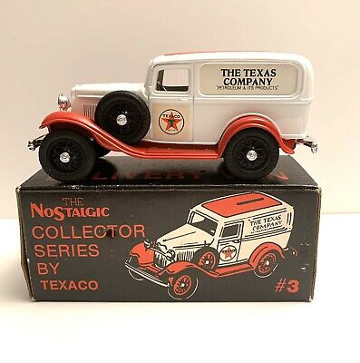1986 TEXACO 1932 Ford Delivery Van Bank truck #3 ERTL Collector Series w/box NIB