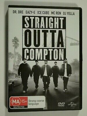 Straight Outta Compton DVD Feat Dr. Dre Eazy-E Ice Cube Mc Ren GOOD CONDITION